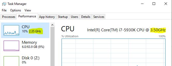 CPU Performance Balanced