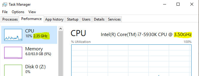 CPU Performance Balanced